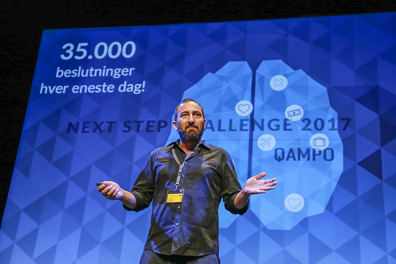 Quampo_speech about making decisions at their Next Step Challenge participation
